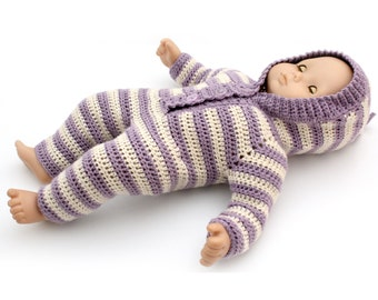 "Download Now - CROCHET PATTERN 15"" Doll Baby Sleeper Crochet Pattern"