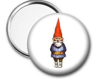 Gnome Pocket Mirror, Personalized Pocket Mirror