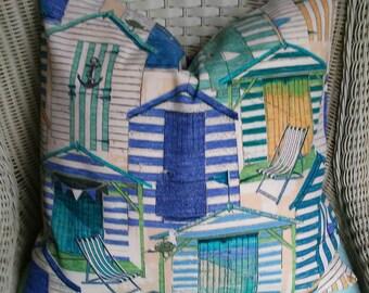 COASTAL COLLECTION- 8 Sizes-Navy Aqua Beach House Pillow Cover-Throw Pillow-Euro Sham