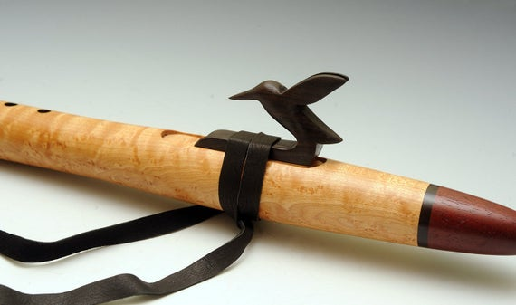 Native American Style Flute Birdseye Maple, Purpleheart, Blackwood Hummingbird