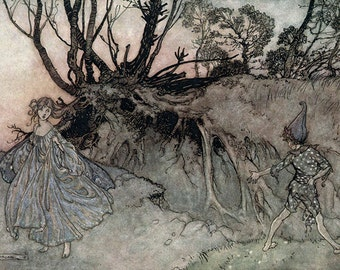How Now Spirit, Arthur Rackham, Vinatge Art Print
