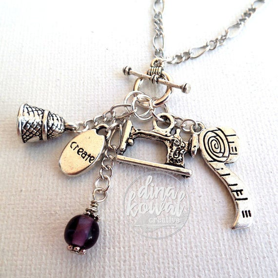 Charm Necklace - seamstress - sewing - create