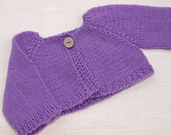 Waldorf Doll Clothes - Purple knitted Sweater , fit 15 - 17 dolls