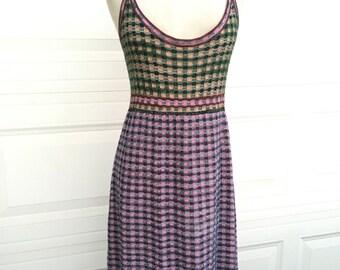 Vintage 1980s 1990s Missoni knit made in Italy spaghetti straps designer dress size medium