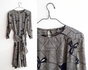 Vintage Silk Dress by Italian Designer Fiorella Rubino - 1980