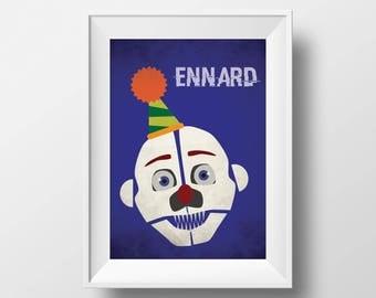 Five Nights at Freddy's Freddy Sister Location Ennard Inspired Printable Wall Art