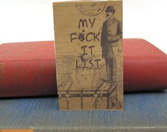 The F*ck It Small Kraft Paper Journal / Notebook