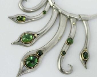 Tourmaline Stems Necklace - Ready To Send!
