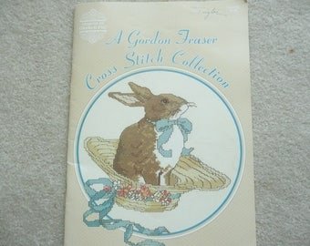 A Gordon Fraser Cross Stitch Collection, Cross Stitch Booklet, Cross Stitch Victorian Cats, Rabbits, Bears, Geese, Cross Stitch Quilts