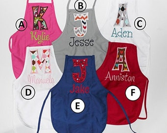 PERSONALIZED Child's Apron with Child's Initial and Name