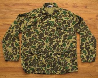 vintage spot camo light weight hunting jacket