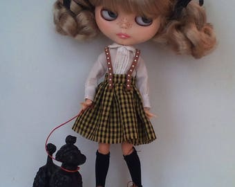 Pretty white blouse  and a cotton skirt Blythe or Pullip
