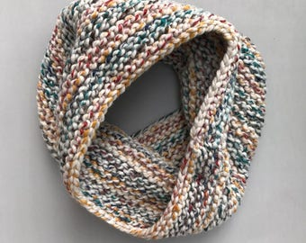 COLLECTION: MINNA Hand Knit Multicolored Wool Blend Cowl