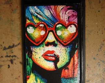 5x7 in Art Block Plaque - Ready to Hang Art Print Mounted on Wood - Electric Wasteland