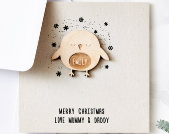 Robin Personalised Christmas Card