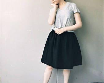 Discounted: Elastic Puff Skirt, Black
