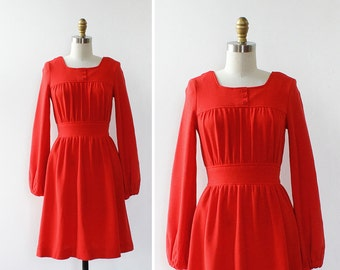 Jonathan Logan Mini Dress XS • 60s Mod Knit Dress • Red Mini Dress • Vintage Mini Dress • 60s Dress • Vintage Red Dress | D1190