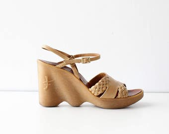 Famolare Wedge Shoes 6 • 70s Platforms • Famolare Shoes • Wedge Heels • Wedge Sandals • 70s Sandals • Boho Heels | SH339
