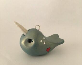 Mini narwhal Handmade ornament