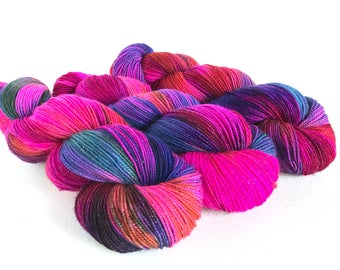 Dance All Night.   Starborn Sparkle Sock Yarn.