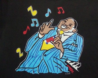 Vintage 90's Five Guys Named Moe Broadway Musical 1990 jazz concert tour Rare T Shirt Adult Size XL