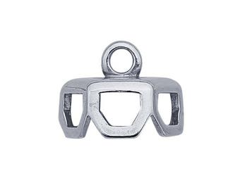 Sterling Silver Hexagonal End Cap for Single-Point Crystal