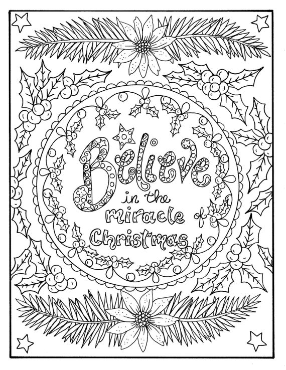 adult christian christmas coloring pages - christmas coloring page believe in the miracle adult christian