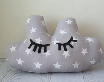 Cloud pillow , kids pillow , nursery pillow , baby pillow , nursery decoration , crib pillow , gray pillow
