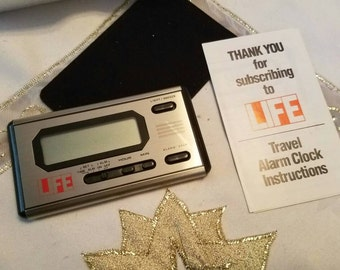 Vintage Life Travel Alarm Clock Never Used In the Original Box Case and Directions 1980s