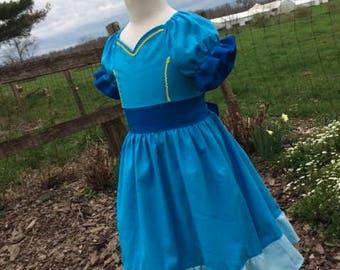 Girls Isabel Dress, Princess Isabel of Avalor, inspired by Disney's Elena of Avalor , Isabel's blue dress, sizes 18m,  2T-8girls