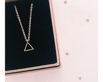 Minimalist Geometric Mini Triangle Necklace