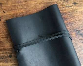 Black Leather Binder, Black Screw Post Binding Covers, Soft Cover Screw Post Binder, Handmade Soft Leather Post Binder