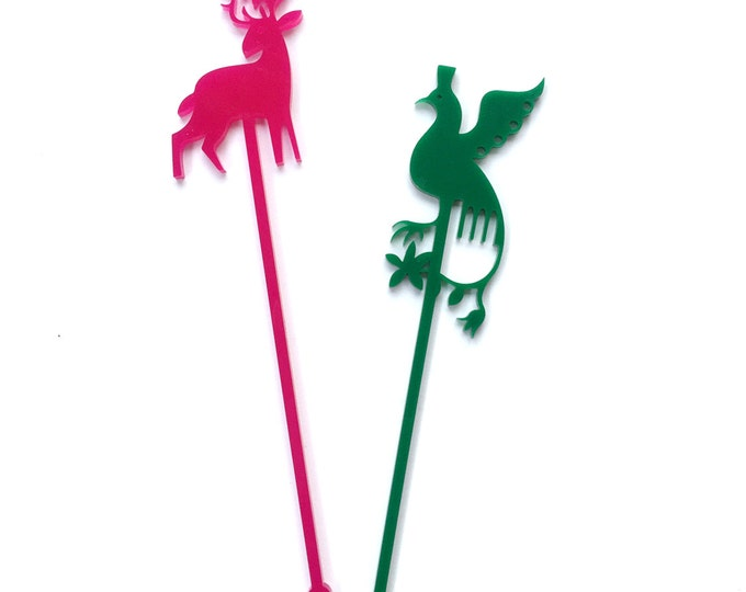Otomi Stir Sticks, Swizzle Sticks, Laser Cut, 6 CT. Mexican Inspired