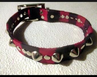Basic Studded Deadly Stripe Collar