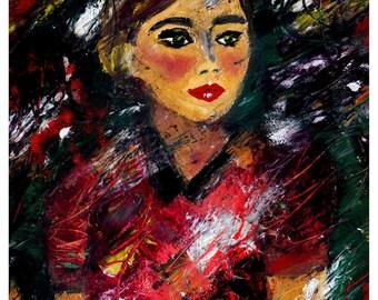 woman wall art - digital download - beauty art - portrait art - printable wall art - portrait wall art - beauty wall print - woman