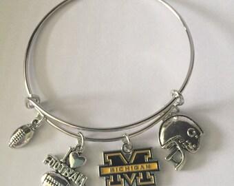 Sports Bracelets - Michigan Football- Michigan Wolverines-gifts-stocking  stuffers