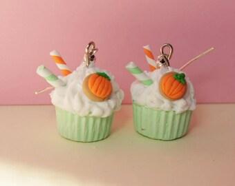 Halloween cupcake earrings