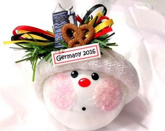 Germany Souvenir Christmas Ornament 2017 German Beer Stein Pretzel Oktoberfest Octoberfest Personalized Townsend Gifts