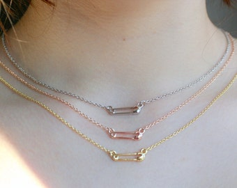 Safety Pin Necklace Safety Pin Jewelry Silver Tolerance I'm With You Safe Place Necklace Safe Harbor Silver Gold Rose Gold