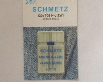 Brand new Schmetz Jeans/Denim Twin machine needle--4,0/100
