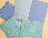 EMBOSSED CARDSTOCK 41/4 x 51/2 inches 5 pack Blue Pack 1