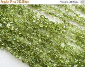 60% HOLIDAY SALE WHOLESALE 5 Strands Peridot Beads, Green Peridot Plain Coin Beads, Peridot Necklace, Green Peridot Gemstones, 4-7mm Beads,
