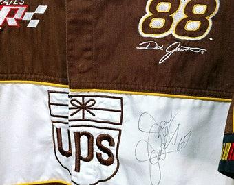 Vintage Dale Jarrett Signed by Jason Jarrett UPS Robert Yates Nascar Racing Shirt Chase Authentics Size Small