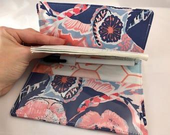 Blue Duplicate Checkbook Cover Register -  Duplicate Checkbook Reigster  Fabric Checkbook Cover -  Art Gallery In Blue Interplay in Calm