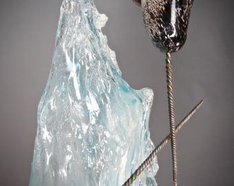 Magical Dance of the Narwhal- A Blown Glass Sculpture by Andy Libecki