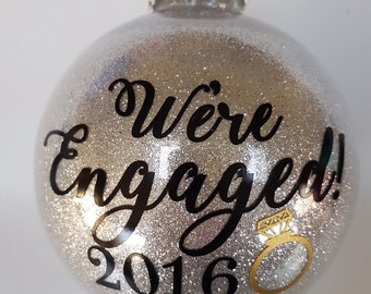 Engaged Ornament - Engaged Christmas Ornament - Newly Engaged Gift - Christmas Ornaments - Ornaments - Ornament - personalized ornaments