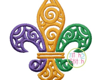 Scroll Fleur De Lis Design For Machine Embroidery,  INSTANT DOWNLOAD now available