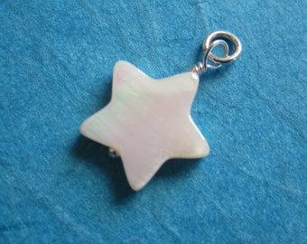 Mother of Pearl Dangle Charm