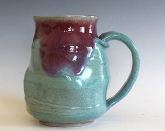 Twisted Mug Pottery, 19 oz, unique coffee mug, handmade ceramic cup, handthrown mug, stoneware mug, pottery mug, ceramics and pottery