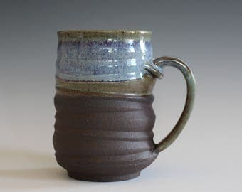 Coffee Mug, 16 oz, handthrown ceramic mug, stoneware pottery mug, unique coffee mug, stoneware mug, coffee mug pottery, pottery mug